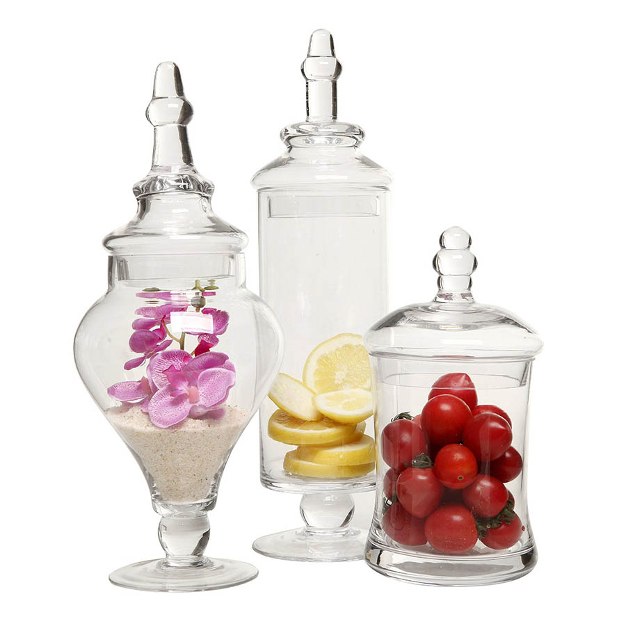 cheap apothecary jars for home decorating