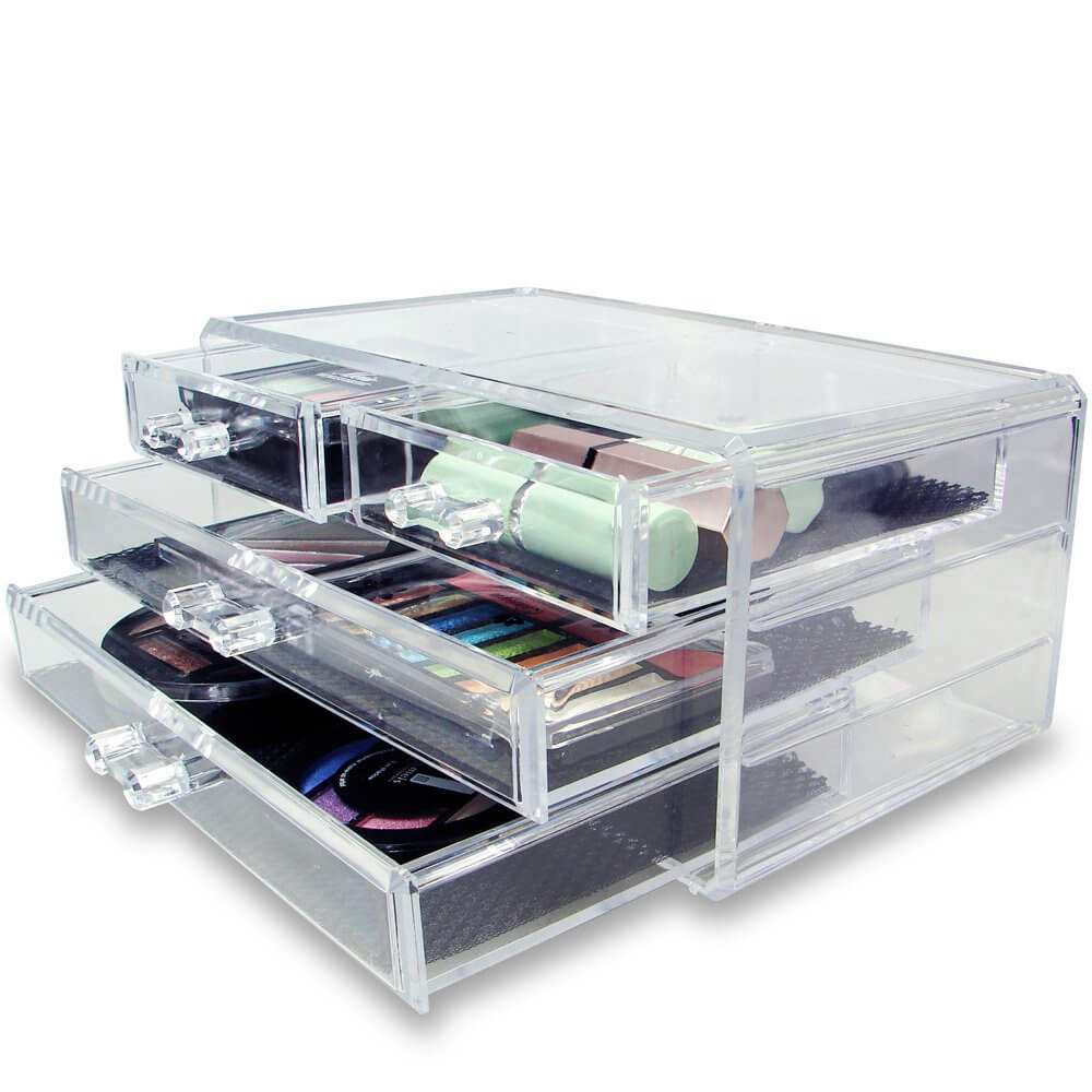make up organization drawers