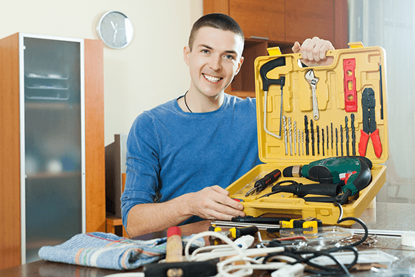 What are the basic tools needed for DIY home decor?