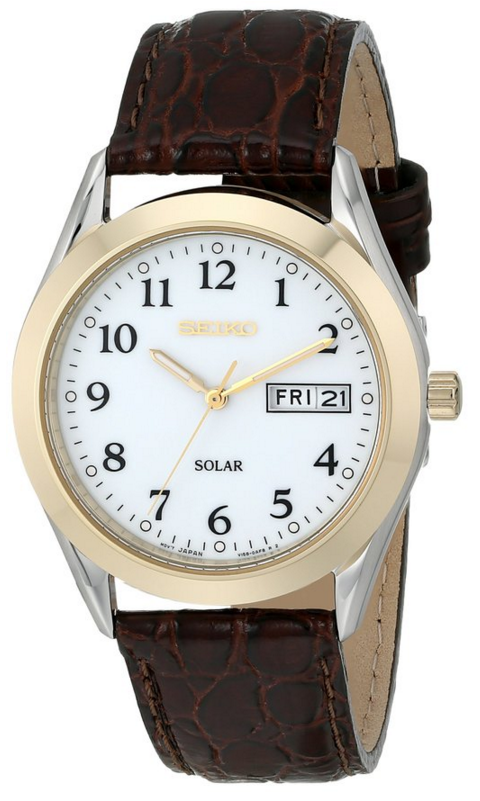 Seiko_Men's_SNE056_Stainless_Steel_Solar_Watch_with_Leather_Band