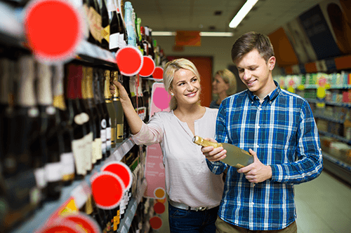 buying wine - mother's day gifts