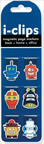 Robots i-Clips Magnetic Page Markers