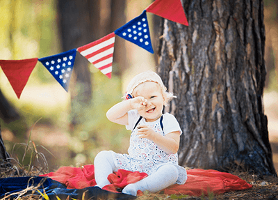 baby celebrating 4th of july