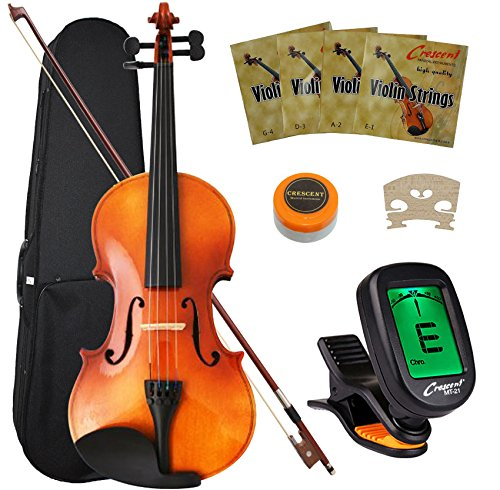 Crescent Full Size Student Violin Starter Kit