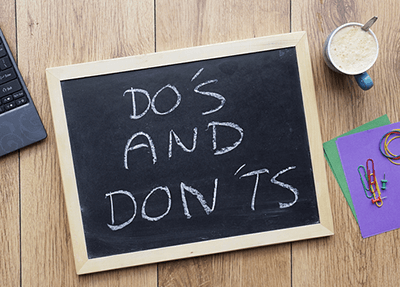 dos and don'ts of saving money
