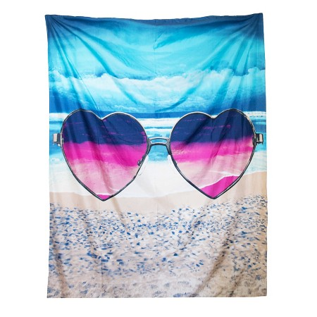 heart sunglasses tapestry