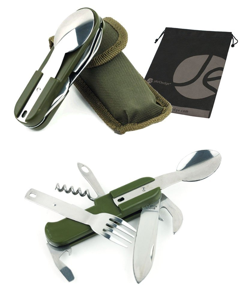Swiss Army Style Fold Up Utensil 13 functions
